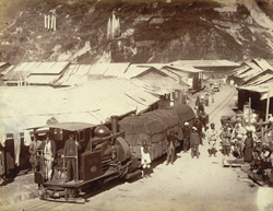 Hill village on Darjeeling Railway.